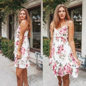 🌿 Fields Of Pretty Floral Ruffle Dress